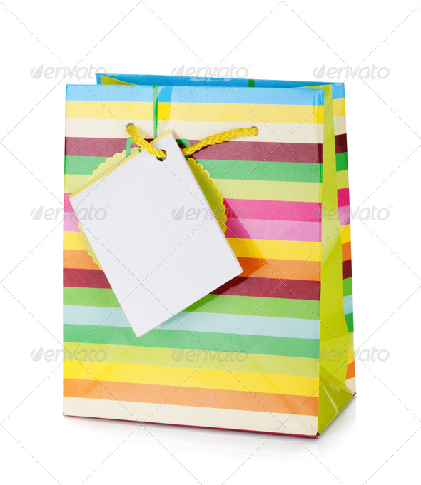 Colored gift bag - Stock Photo - Images