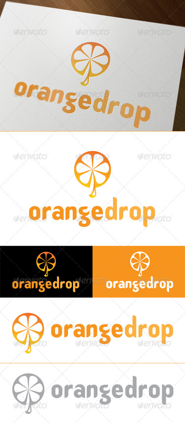 Orange Drop - Food Logo Templates