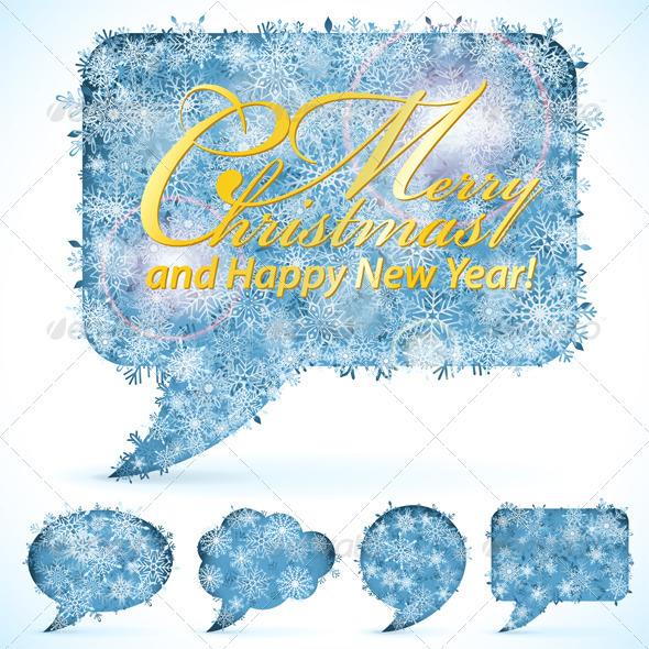 Christmas Speech Bubbles - Christmas Seasons/Holidays