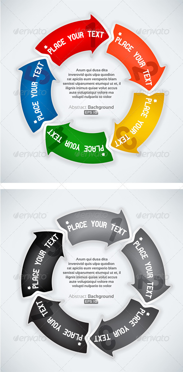 Rounded Next Step Arrows - Concepts Business