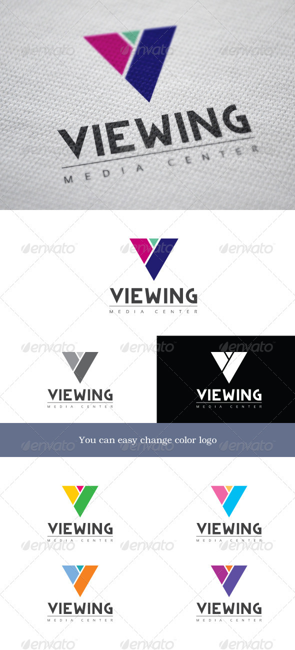 Viewing Media Center - Letters Logo Templates