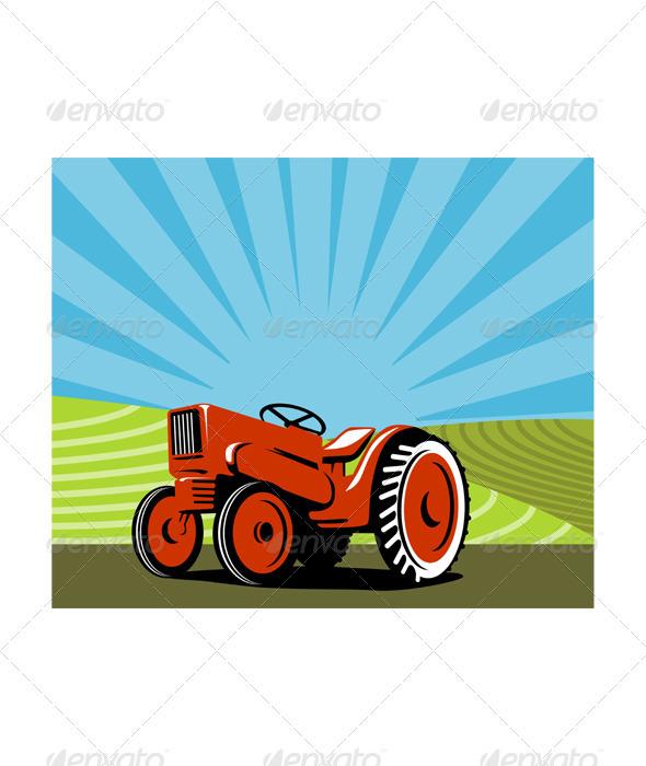 Vintage Tractor Retro - Miscellaneous Vectors