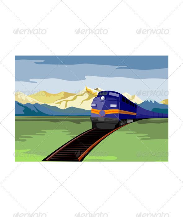 Diesel Train Retro - Travel Conceptual