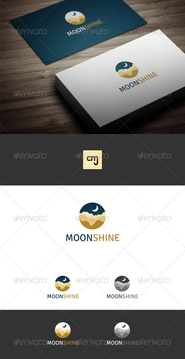 Moon Shine Logo Template - Nature Logo Templates
