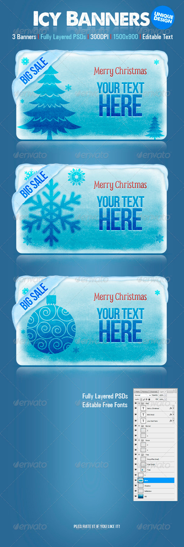 Icy Banners - Banners & Ads Web Elements