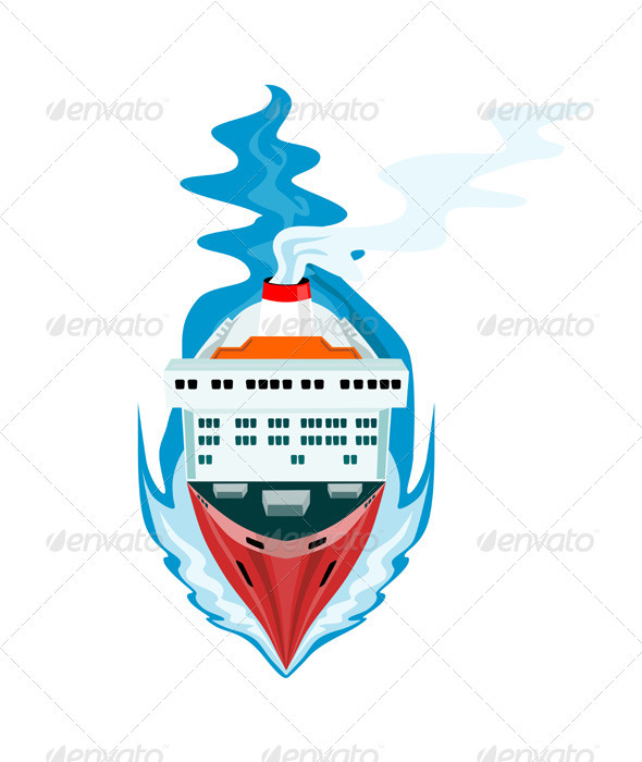 Container Ship Cargo Boat Retro - Miscellaneous Vectors