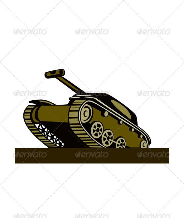 World War Two Battle Tank - Miscellaneous Vectors