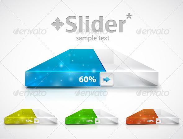 Modern Slider / Progress Bar - Technology Conceptual