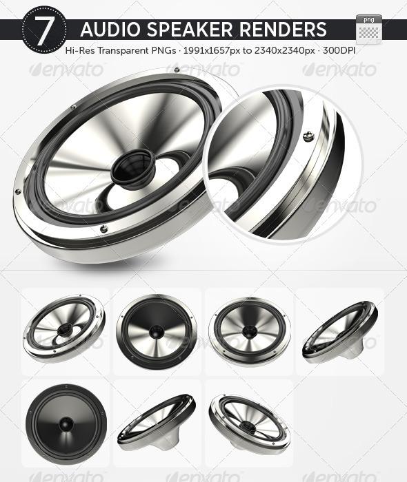 7 Audio Speaker Renders - Technology 3D Renders