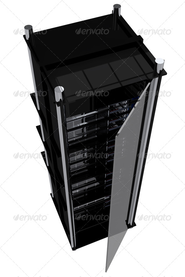 Modern Servers Rack - Stock Photo - Images