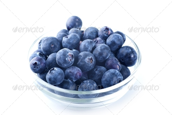 Blueberries Bowl - Stock Photo - Images