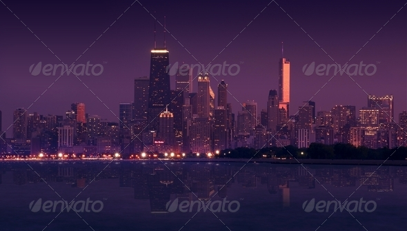 Skyline Chicago - Stock Photo - Images