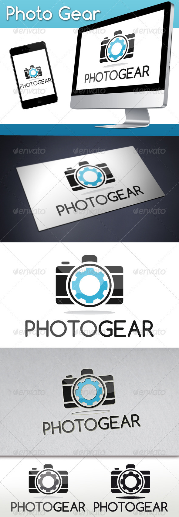 Photo Gear Logo - Objects Logo Templates