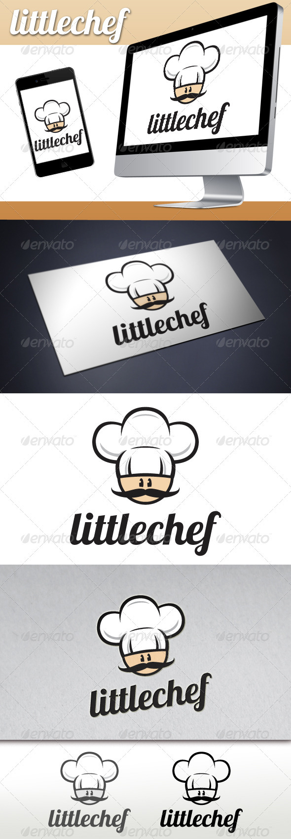Little Chef Restaurant Bistro Logo - Humans Logo Templates