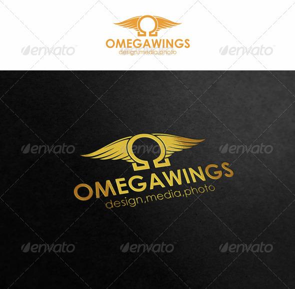 Omega Wings - Symbols Logo Templates