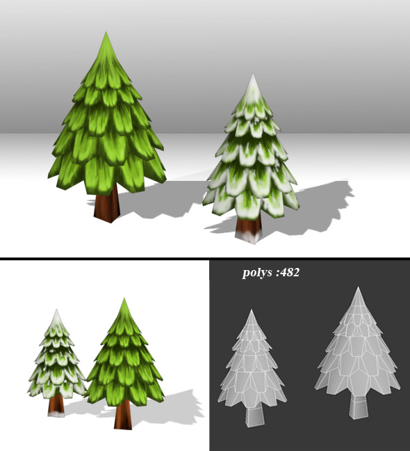 Christmas Tree low poly - 3DOcean Item for Sale
