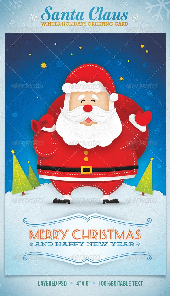Santa claus winter holidays greeting card by subtropica graphicriver santa claus winter holidays greeting card holiday greeting cards m4hsunfo