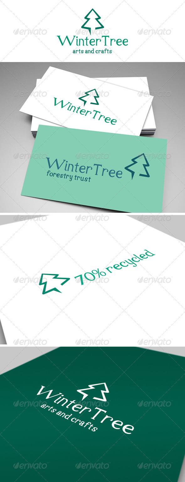 Winter Tree Logo - Nature Logo Templates