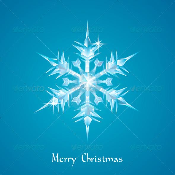 Christmas snowflake greeting - Christmas Seasons/Holidays