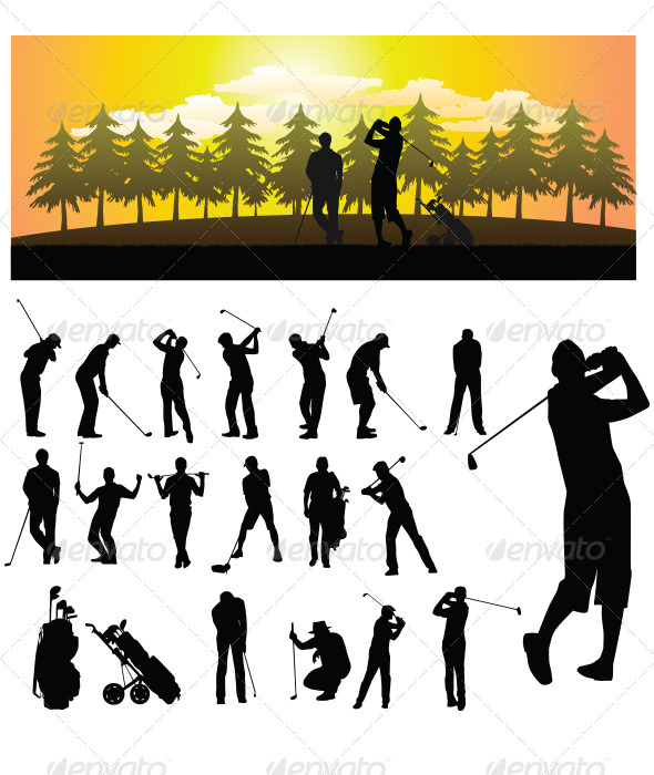 Golf Silhouette - Sports/Activity Conceptual