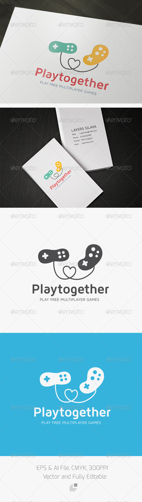 Play together Logo - Objects Logo Templates