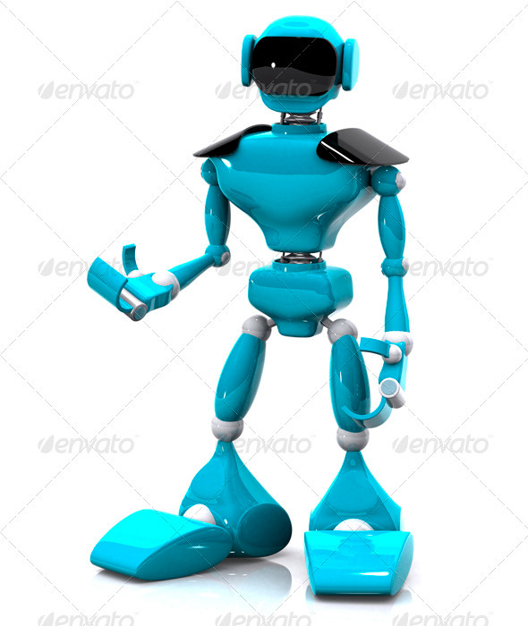 Plastic Robot - Characters 3D Renders