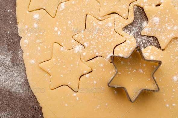 Baking christmas cookies - Stock Photo - Images