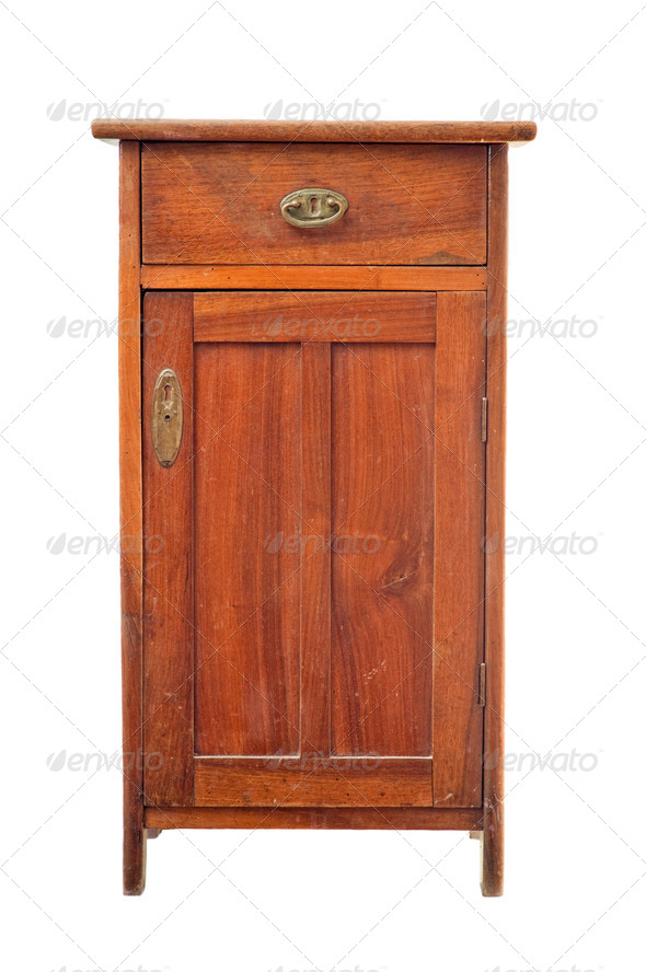 Old wooden cabinet - Stock Photo - Images