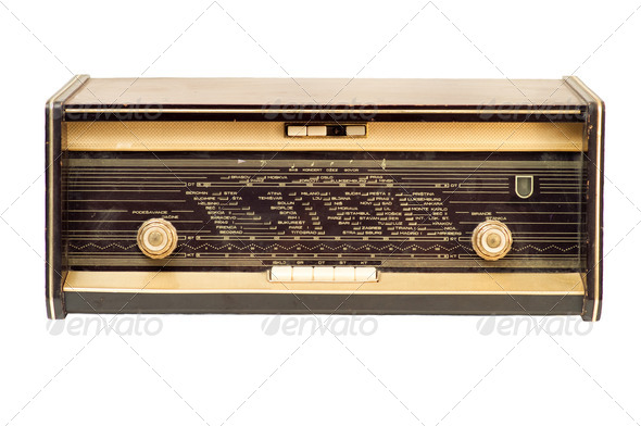 Vintage radio - Stock Photo - Images