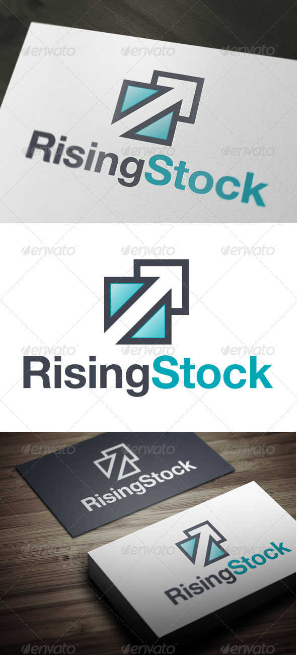Rising Stock - Symbols Logo Templates
