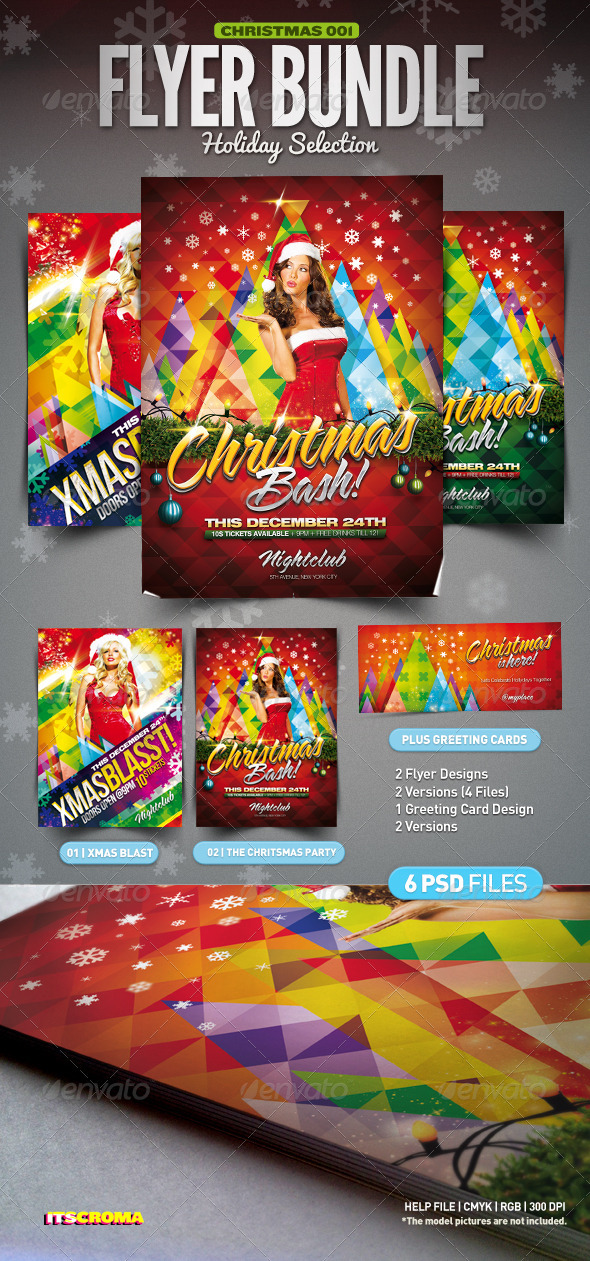 Christmas Party Flyer Bundle - Clubs & Parties Events