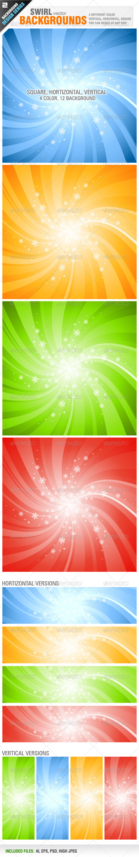 Swirl Backgrounds - Backgrounds Decorative
