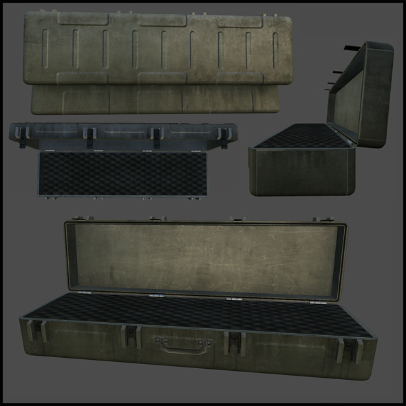 Rifle Case - 3DOcean Item for Sale