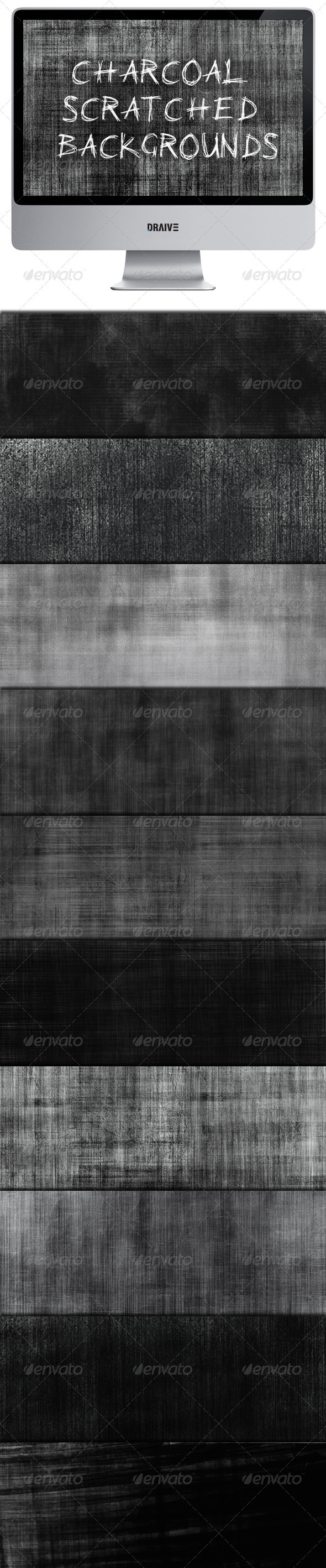 Charcoal Scratched Backgrounds - Backgrounds Graphics