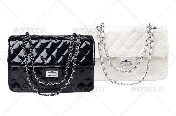 Black and white female bags - Stock Photo - Images