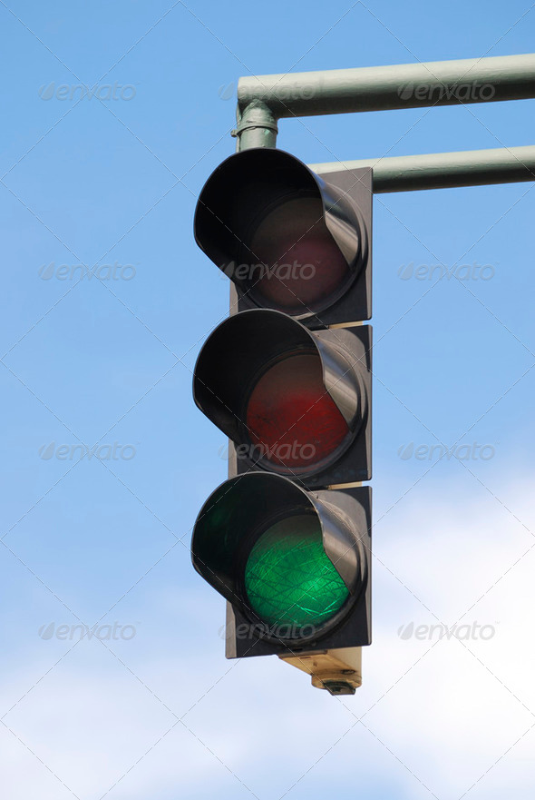 Green Traffic Light - Stock Photo - Images