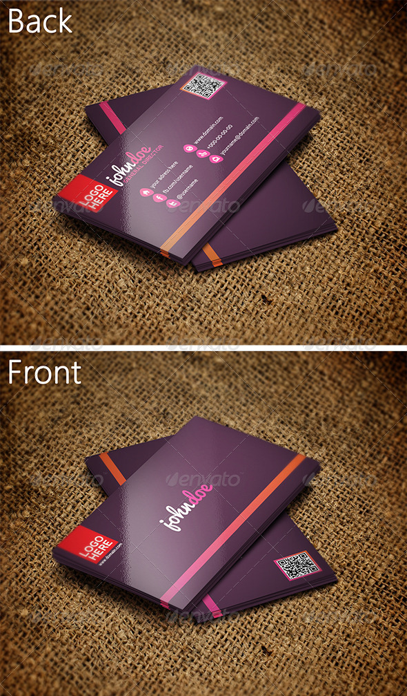 Colorful Business Card 2 - Corporate Business Cards