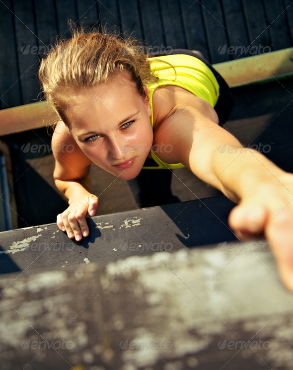 Traceur Participating In Parkour Wall - Stock Photo - Images