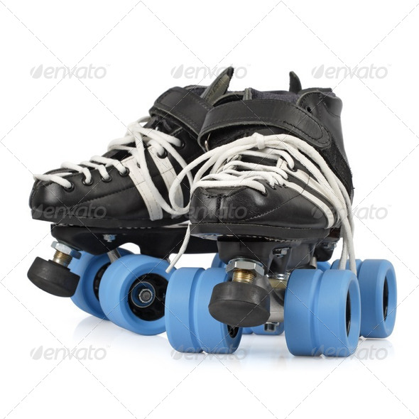 Roller derby skates isolated - Stock Photo - Images