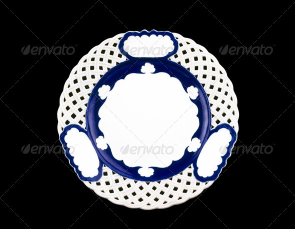 Old dinner plate - Stock Photo - Images