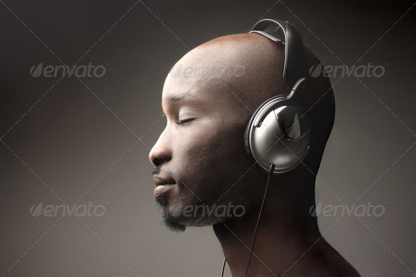 Enjoy music - Stock Photo - Images