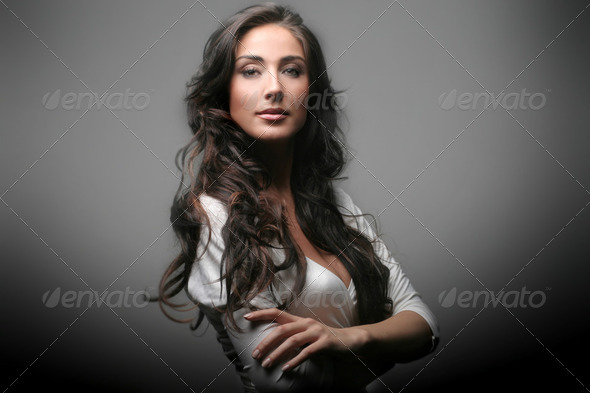 Attractive woman - Stock Photo - Images