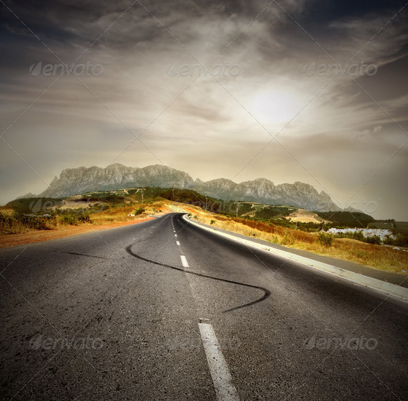 African road - Stock Photo - Images