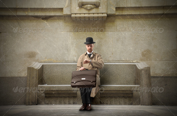 Waiting gentleman - Stock Photo - Images