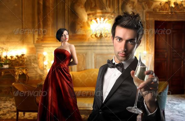 Romantic evening - Stock Photo - Images