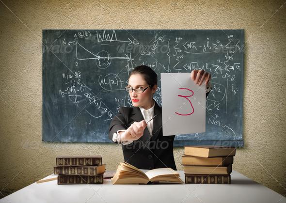 Severe teacher - Stock Photo - Images