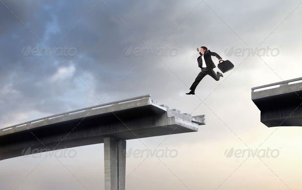Overcoming difficulties - Stock Photo - Images