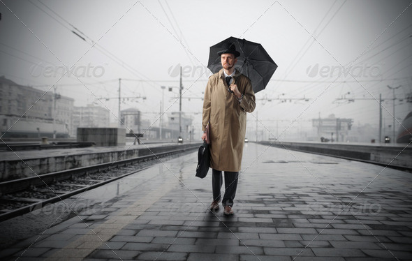 Waiting for the train - Stock Photo - Images