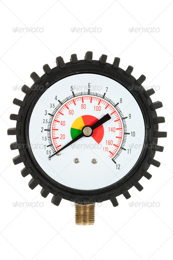 Pressure meter (isolated) - Stock Photo - Images