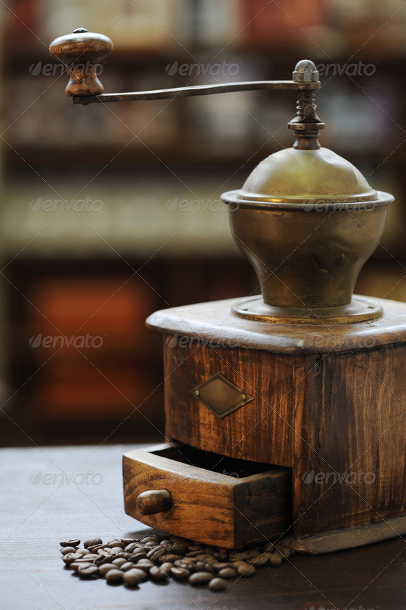 old grinder coffee - Stock Photo - Images
